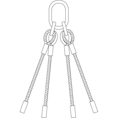 Wire rope slings 4-leg with chain components