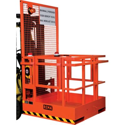 Forklift safety platform
